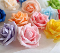 ball head mount - Hot Sale Artificial Foam Roses for Home And Wedding Decoration Flower Heads Kissing Balls For Weddings Multi Color Cm Diameter