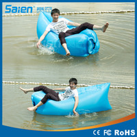 Wholesale Fast Inflatable Lazy Sleeping Sofa Bed Festival Camping Hiking Travel Hangout Beach Bag