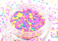 acrylic powder color - Glitter Acrylic powder Nail powder nail art decoration MM MM round glitter mixed powder Matte color HY G bottle Packing