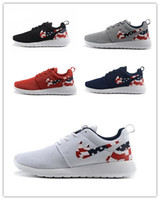 american table - Cheap Roshe Run American Flag Shoes London Olympic Mens Womens Rosherun sporting running Breathable Sneakers shoes Euro