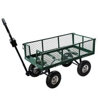 Wholesale Utility Wagon Dump Lawn Cart Yard Garden Heavy Duty Wheelbarrow Trailer Steel