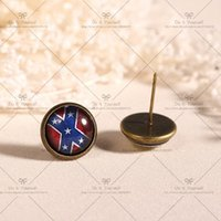 big glamour - Big discount mm Fashion Earrings Stud Earrings Glass cabochon earrings Cartoon stud earrings Grind The Glamour symbols D089