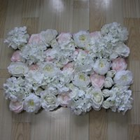 artificial light plants - 10pcs Artificial silk Light color rose white peony flower wall wedding background lawn pillar road lead market decoration