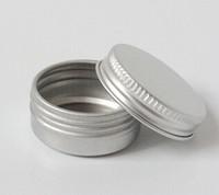 aluminum metal stamping - 100PCS G silver Aluminum Empty Round Jar for Cream Metal Sample Container
