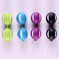Wholesale Female Smart Duotone Ben Wa Ball Sex Toys Vaginal Ball Exerciser Vagina Tighter Exercise Machine Vibrators Sex Products FF0042