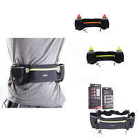 bicycle pockets - Unisex Double Pockets Ports Waist Bag Pack Outdoor Water Bottle Belt Bag Running Hiking Bicycle Cycling Pannier Road Bike Ride Waist Bags