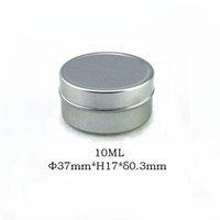 aluminum cosmetic box - 100pcs g Empty Aluminum Cosmetic Jar MM Container ml Click Cap Makeup Container Factory Case Tea Box Factory