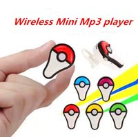 Wholesale 2016 New Wirelesss earphone MP3 Player without Screen Small Clip mp3 Support Micro SD Card G TF Card MP3 With Gift Retail package Cable