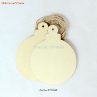 big labels - mm Blank uunfinished Big Wood Christmas Ball Tags Favor wooden Labels quot CT1138C
