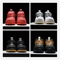 aa air - Air LUNAR FORCE Low DUCKBOOT Silvery White Gold Black Red Outdoor Athletics Sneakers AA Best Quality Version Size US