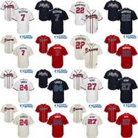 baseball flowers - Youth Atlanta Braves Gordon Beckham Nick Markakis Deion Sanders Tyler Flowers kids Baseball Jersey stitched