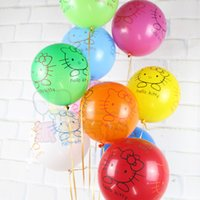 balls gifs - 50pcs inch g Latex Balloon Cartoon Hello Kitty Printing Inflatable Air Ball Wedding Birthday Party Supplies kids gifs
