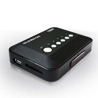 Wholesale Black Mini Full HD P HDMI Multi Vedio Media Player MKV AVI MMC Home Entertainment Remote Control