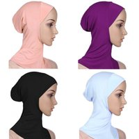 Wholesale Fashion Full Cover Inner Muslim Cotton Hijab Caps Islamic Head Wear Hat Underscarf Shawls And Hijabs