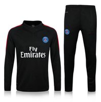 best free zip - Best quality Paris training suit soccer Ligue Football Sportswear Set skinny pants