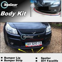 Wholesale Bumper Lip Lips For Fiat Sedici Front Skirt Deflector Spoiler For Car Tuning The Stig Recommend Body Kit Strip