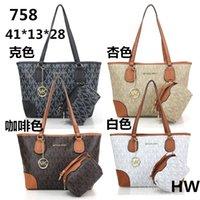 Wholesale 758 mk handbag Women Leather bag European designer handbags high quality Shoulder Bags Classic Messenger Bags famous tote bag mk purse