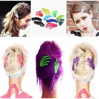 Wholesale 30pcs Halloween Party Zombie Skull Skeleton Hand Bone Claw Hairpin Punk Hair Clip For Women Girl