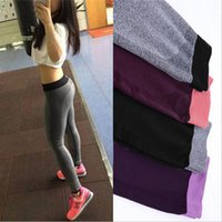 Wholesale In business S XL Colors Women Sport Leggings For Yoga Running Training Bodybuilding Fitness Clothing Fashion Gym Elastic Jegging Leggings