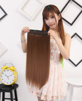 Wholesale 1Pc Clip In Hair Extensions Synthetic Hair Extension One Piece Full Korea Head Long Straight Natural Hairpiece Good Gifts
