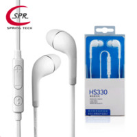 Wholesale HS330 Earphone MIC and Volume Control noodle flat cord EO EG900BW JC EO EG900 for samsung i9500 S4 note5 noise canceling with retail box