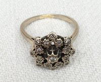 Wholesale Retro Rings stars Three Stone Rings New Fancy Leaf Charm Fashion ring silver Filling Jewelry Zircon
