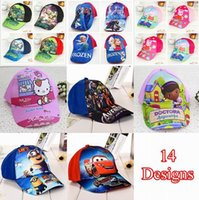 Wholesale Kids Cartoon Hats Caps Children Minions Frozen Teenage Mutant Ninja Turtles Baseball Caps Sun Hats DHL