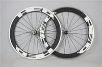 aluminum bike rims - 50mm rim full carbon road bike wheels light weight with powerway R13 hubs Alloy Brake Surface Clincher Aluminum Wheelset