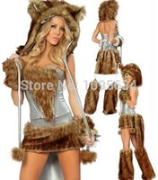 adult dog costume - Plus size cardiganfree pp walsonstyles Adult Foxy Lady Fancy Dress Costume Sexy Animal Dog Puppy Ladies s Female SW128instylesin