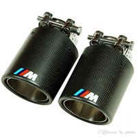 Wholesale M sport Style Real Carbon Fiber Quad Exhaust Muffler Tips Pip pair M3 M4 M5 M6 M1 SERIES FOR BMW
