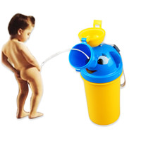 Wholesale Cute Baby Girl Boy Portable Travel Car Toilet Vehicular Potty Large Cartoon penguin kids training toilet pee trainer urinal