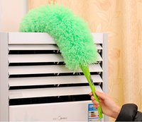 Wholesale Color Superfine fiber dust brushes household removable dropping duster Feather Duster