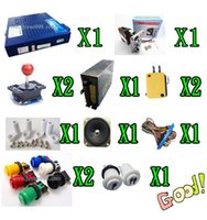 Wholesale arcade game kit for in coin acceptor power supply speaker lighted joystick lighted P2P button part for game machine