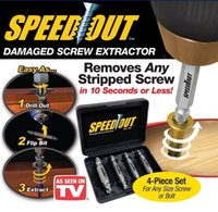 Wholesale Speed Out Damager Screw Extractor Removes Any Stripped Screws Removal of Speed Out Tools Guide Broken Rusted Stripped AA