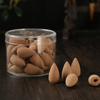 Wholesale 50pcs Brand New Bullet Sandalwood Incense Smoke Backflow Hollow Cones Tower Incense Reflux Tower Incense Sandalwood Incense Aromatic A0461