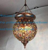 antique crystal ceiling lamps - LED Modern Black Crystal Chandelier Pendant Hanging Lamp Fixtures AC110 V Nordic Antique Crystal Ceiling Lmaps Retro color