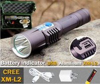 aluminum usb flash drive - 2016 new Design Aluminum USB LED flashlight CREE XM L2 Flash Light Led Torch Lanterna LED Lantern Camping Light Hunting Battery Lamp