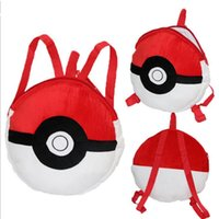 bagged coal - Poke Pikachu Pets cartoon plush backpack school bag Cute cartoon red coal dust balls elves