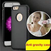 anti mobile phone - Anti gravity adsorption Protective case for mobile phone Creative magic hanging mobile phone case Iphone6 plus iphone6s plus Samsung S7