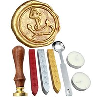 anchor seals - Anchor Vintage Rosewood Wax Seal Stamp Set With Gold Red Silver Sticks