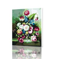 oil paint by numbers - Hand Painted Canvas Oil Paintings Tableau Peinture Sur Toile Paint By Number Frameless Wall Painting Flower Duvar Tablolar