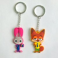 animal city - In business Crazy animal rabbit Judi fox zootopia surrounding the city of rubber Nick small gifts PVC soft Keychain