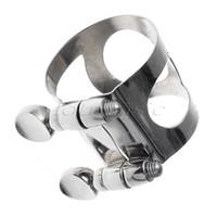Wholesale 10pcs Sax Alto Saxophone ligature nickel metal sax parts saxophone accessories