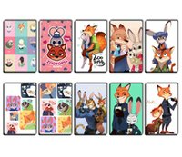 Wholesale PrettyBaby hot movie Zootopia figures Card sticker girls accessories cartoon style Crystal frosted for U to choose