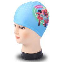 Wholesale Swimming Caps Boys Girls bathing Hats childrens Cartoon swimming cap nylon Swim Bathing Cap kids swimming cap