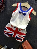 Summer american flag outfits - 2016 summer baby boys clothes outfits American Flag print T Shirt Short pants ciothing set