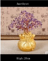 amethyst gem tree - Lucky tree Holiday gifts natural amethyst quartz crystal gem money tree in for wealth money bay