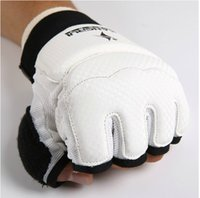Wholesale Hotsale WTF standard taekwondo glove size from S to XXL high quality white color kickboxing boxing thicker hand protection