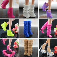 Wholesale Doll Shoes Boots for Barbie Doll pairs Multi color Girl s Gift Doll Accessories with Track Code