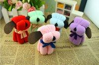 Wholesale Random color cm Creative gifts cartoon shape small squares towels boxed towel dog small dog towel Y917